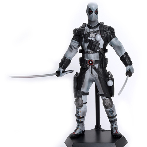 Deadpool Action Figure Collectible Model Gray 12