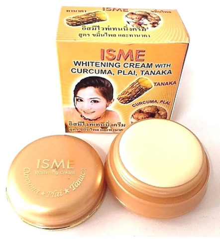 Отбеливающий крем для лица c куркумой, танакой и имбирем Isme Whitening cream with Curcuma, Plai, Tanaka 3 гр