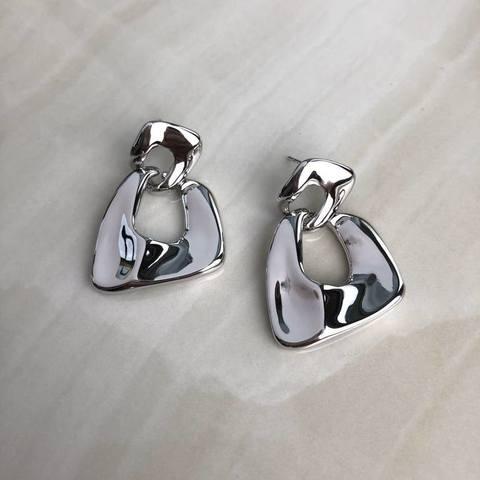 Серьги Гала, серебряный цвет
