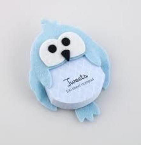 Tweets Notepad blue