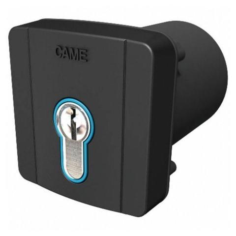 SELD2FDG - Ключ-выключатель встраиваемый с цилиндром замка DIN и синей подсветкой, цвет RAL7024 Came