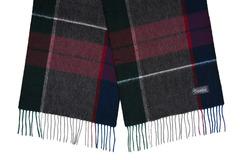 Шерстяной шарф черно-серый 31431