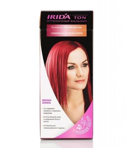 Irida Irida Ton Оттеночный бальзам для окраски волос Вишневая карамель 2*25мл