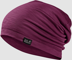 Шапка-бини Jack Wolfskin Travel Beanie wild berry (55-59см)