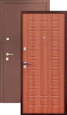 Стальная дверь Сибирь S-2, 2 замка, 1,2 мм  металл (медь+итальянский орех)