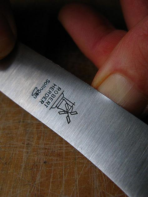 Нож для завтрака Windmuhlenmesser Buckels, 118 мм (вишня)