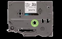 Термоусадочные ленты HSE-211 чёрный шрифт на белой основе, 5,8 мм * 1,5 м для Brother PTE300VP, PTE550WVP, PTP700, PTP750W, PTP900W
