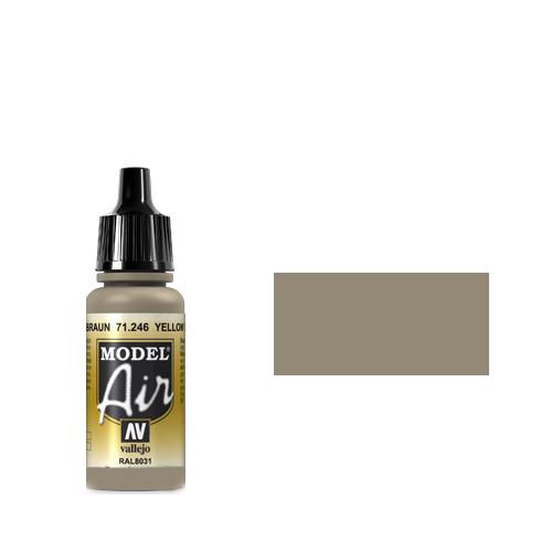 246 Краска Model Air RAL8031 Желто-Коричневый Песок (Yellow Brown) укрывистый, 17 мл