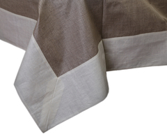 Скатерть 140x180 Old Florence Linoresinato натуральная-светлая полоса