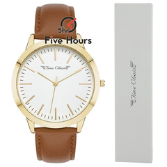TIME CHAIN marylebone leather gold 70006/gd