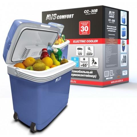 Термоэлектрический автохолодильник AVS CC-30B (30л, 12/220В)