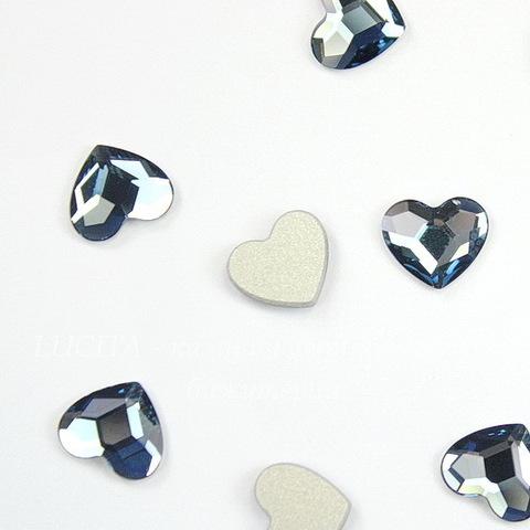 """2808 Стразы Сваровски холодной фиксации """"Сердце"""" Denim Blue (10 мм)"""
