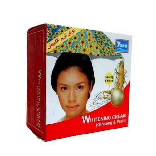Yoko Отбеливающий крем для лица с женьшенем и жемчугом Whitening Cream Ginseng & Pearl, 4 г