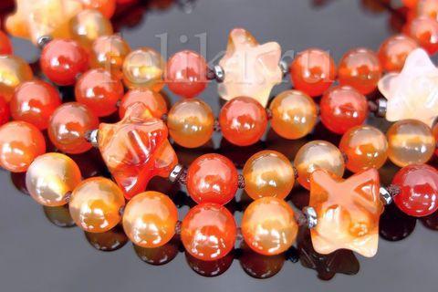 бусы из сердолика (н-0220)