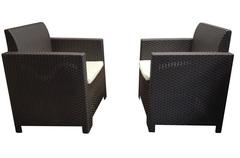 Комплект плетеной мебели из двух кресел Bica Nebraska Duo