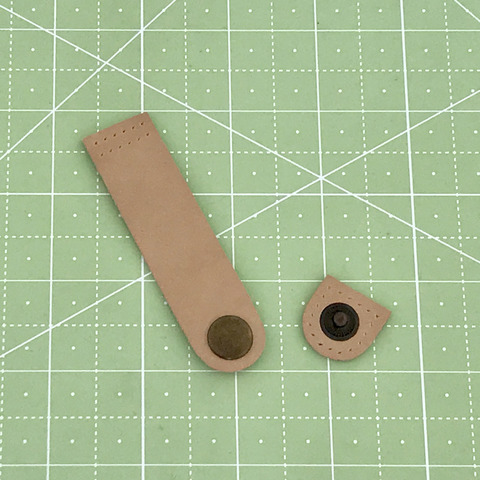 Ремешок для кошелька на кнопке 8 см. (Бежевый)