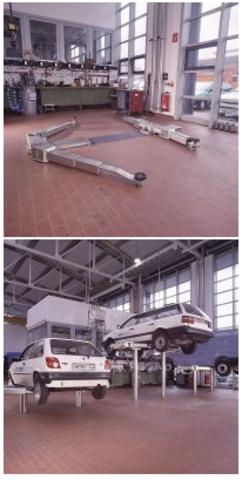 Подъёмник для автосервиса плунжерный NNUSSBAUM 2.50 TTKAS DG