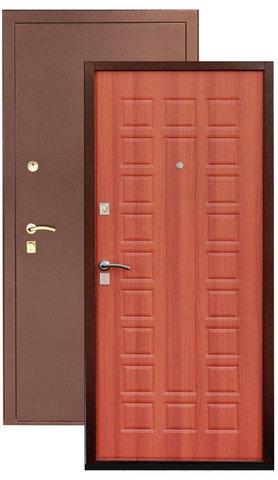 Стальная дверь Сибирь S-2, 2 замка, 1,2 мм  металл (медь+миланский орех)