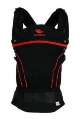 Слинг-рюкзак manduca BlackLine RadicalRed (красный) в комплекте с накладками