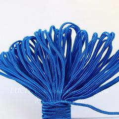 Сутаж, 3х1 мм, цвет - синий, примерно 1 м