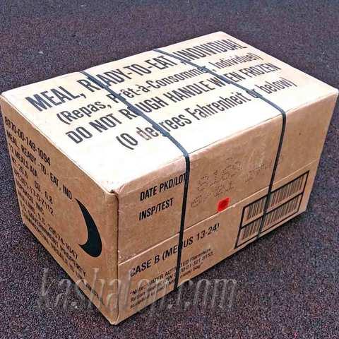 Американский сухой паёк (MRE) - Meal, Ready-to-Eat, коробка В