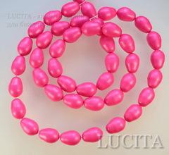 5821 Хрустальный жемчуг Сваровски Crystal Neon Pink грушевидный 11х8 мм