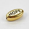 """Бусина овальная TierraCast """"Hope"""" (цвет-античное золото) 11х6х4 мм"""