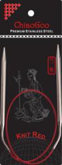 ChiaoGoo Круговые спицы Premium SS Red металл