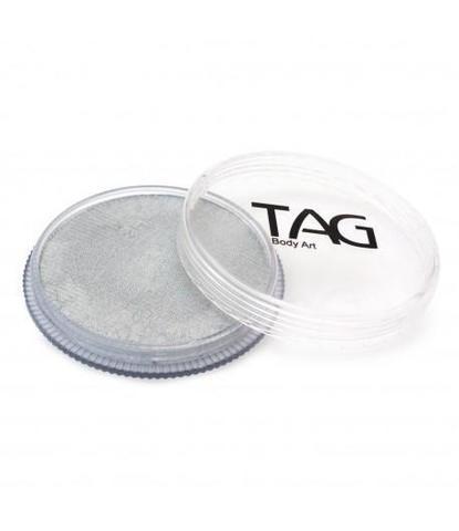 Аквагрим TAG 32гр перламутровый серебряный