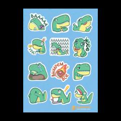 Набор стикеров Dino