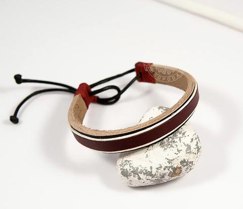 BL442-2 Стильный мужской браслет ручной работы из кожи и ниток