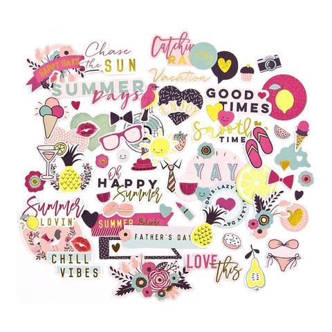 Высечки  My Prima Planner Ephemera Cardstock Die-Cuts -Good Vibes