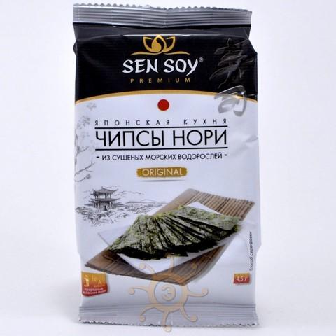 Чипсы нори из морской капусты Original Sen Soy,  4.5г.