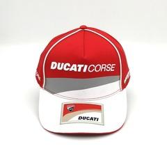 Кепка с вышитым логотипом Дукати (Бейсболка Ducati Corse) красная