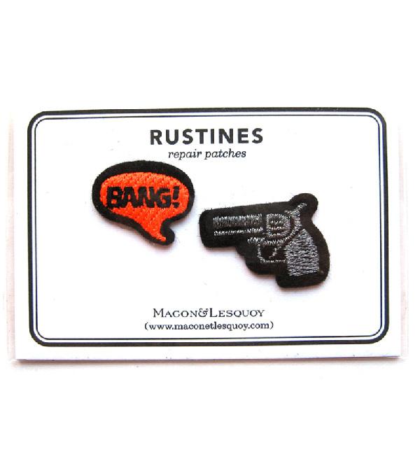 Набор патчей-заплаток Pistolet & Bang от Macon&Lesquoy