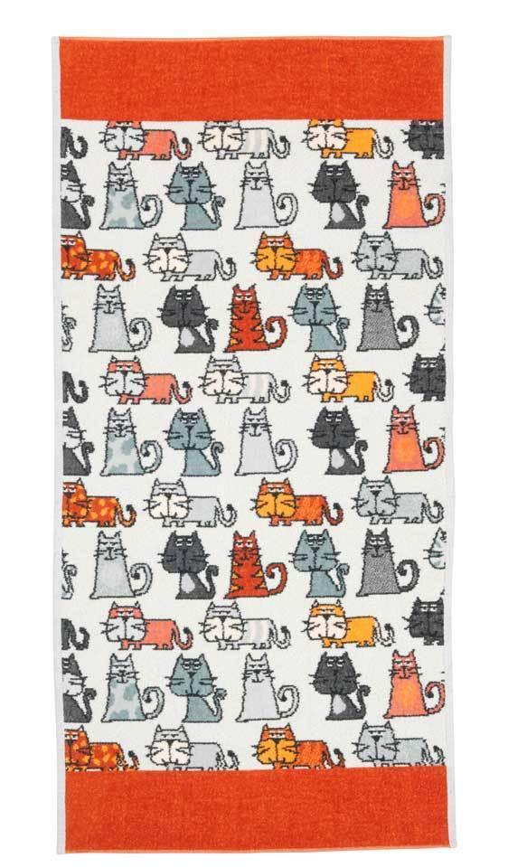 Полотенца Полотенце 50x100 Feiler Cats 167 zimt elitnoe-polotentse-shenillovoe-cats-167-zimt-ot-feiler-germaniya.jpg