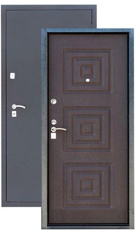 Стальная дверь Сибирь S-2, 2 замка, 1,2 мм  металл (серебро+венге)