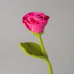Стикер цветок ручной работы E 302654 Q розовый
