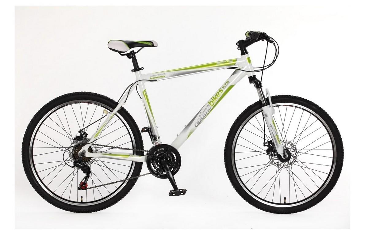 Горный универсальный велосипед OptimaBikes F-1 бело-зеленый