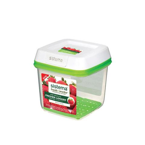 Контейнер квадратный FreshWorks 1,5 л, артикул 53110, производитель - Sistema