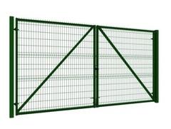 Распашные ворота с заполнением сеткой, 3x2,2 м