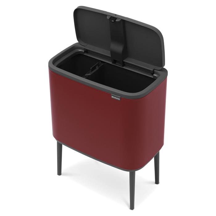 Мусорный бак Touch Bin Bo (11 л + 23 л), Минерально-бордовый, арт. 316340 - фото 1