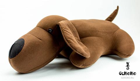 Подушка-игрушка антистресс «Мохнатый Патрик Коричневый» 3