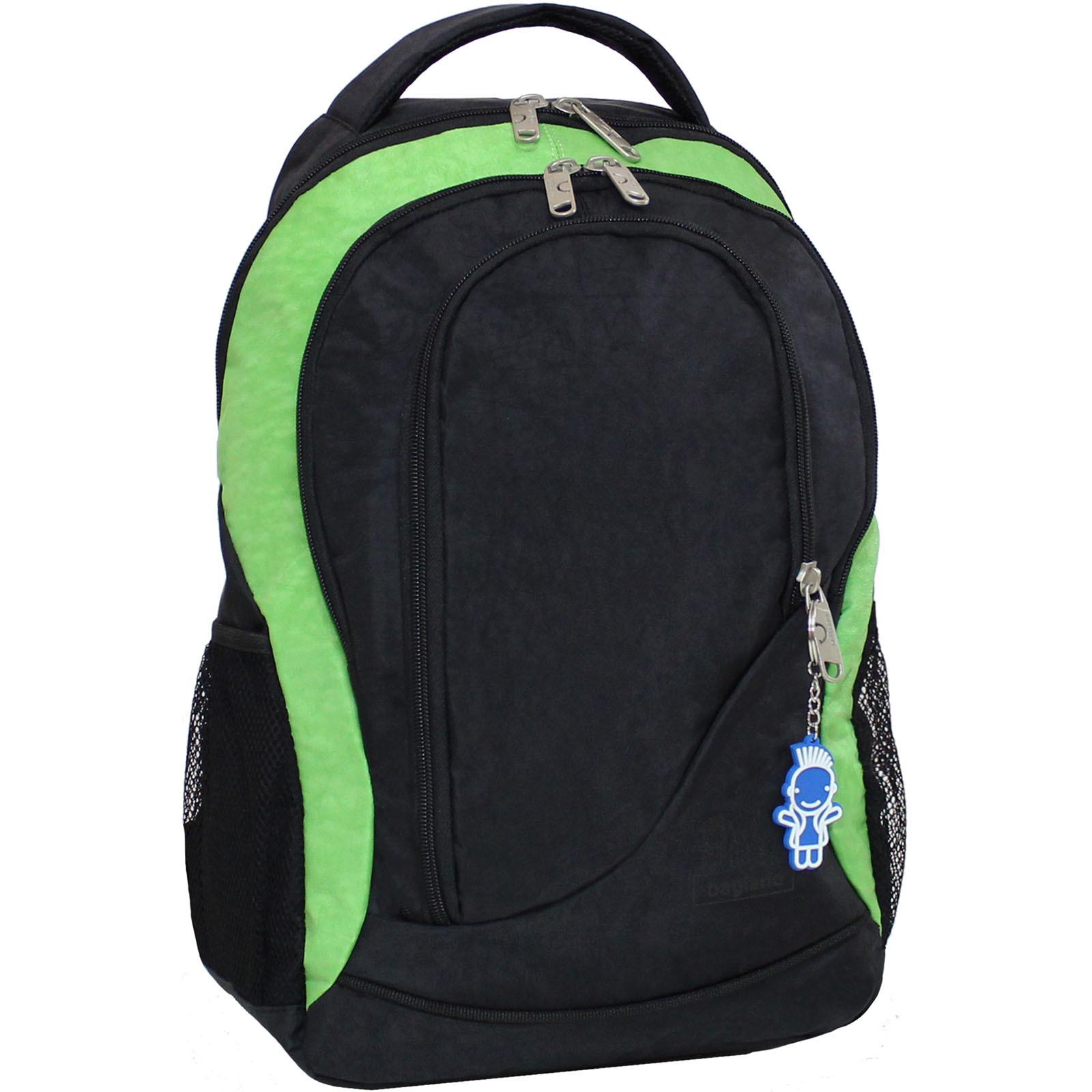 Городские рюкзаки Рюкзак Bagland Бис 21 л. Чёрный / салатовый (0055670) IMG_9288.JPG