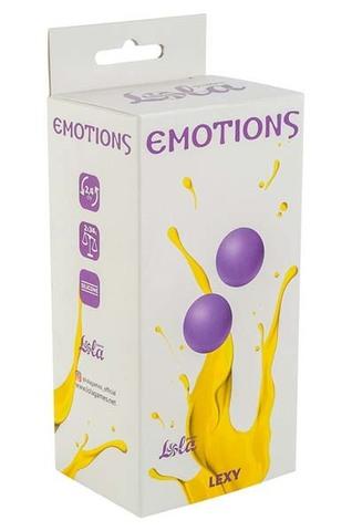 Вагинальные шарики без сцепки Emotions Lexy Small purple (2,4 см; 68 гр)