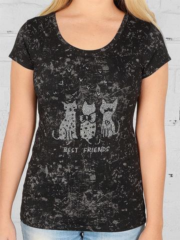 W630-5 футболка женская, черная
