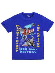 D002-4 футболка для мальчиков, синяя