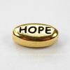 """Бусина овальная TierraCast """"Hope"""" 11х6х4 мм (цвет-античное золото)"""