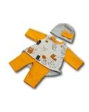 Трикотажный костюм с туникой - Оранжевый. Одежда для кукол, пупсов и мягких игрушек.