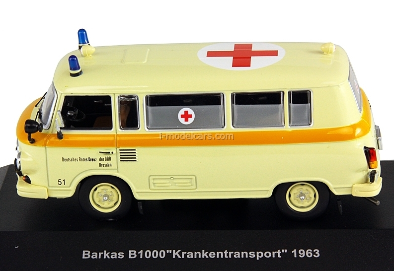 Model Cars Barkas B1000 Ambulance Beige 1963 Ist078 Ist Models 1:43